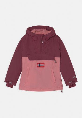GIRLS KIRKENES ANORAK - Snowboard jacket - maroon red/antique rose