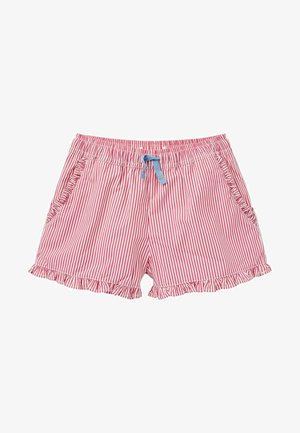 MIT GERÜSCHTEM SAUM - Shorts - partyrosa, feine streifen