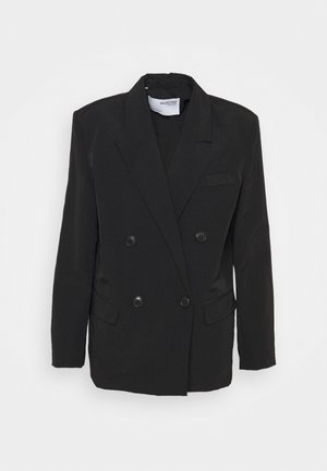 SLFFLOW DOUBLE BREASTED  - Blazer - black