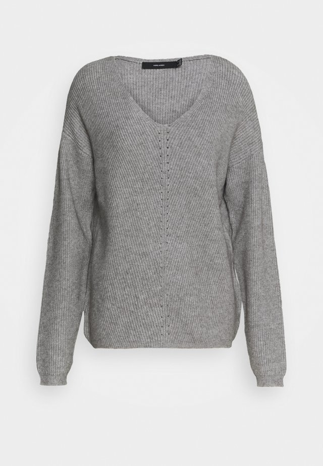 VMHOLLY V NECK  - Trui - light grey melange