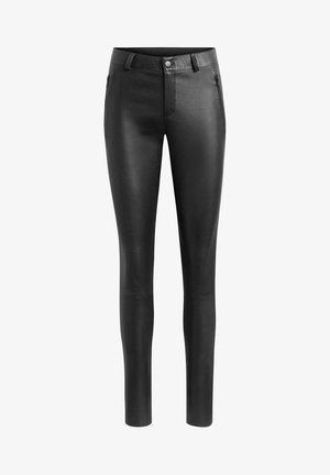 HELENA - Leather trousers - black