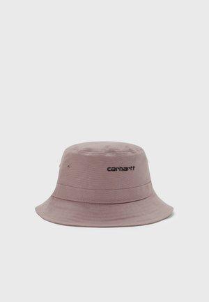 SCRIPT BUCKET HAT UNISEX - Hatt - earthy pink/black