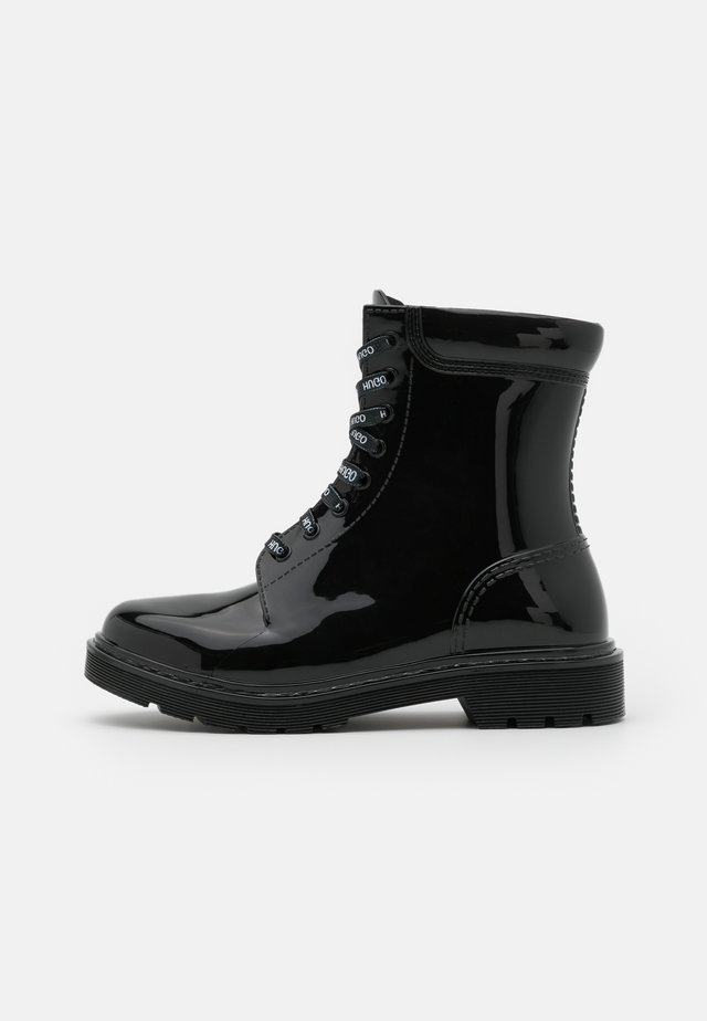 LACE UP  - Wellies - black