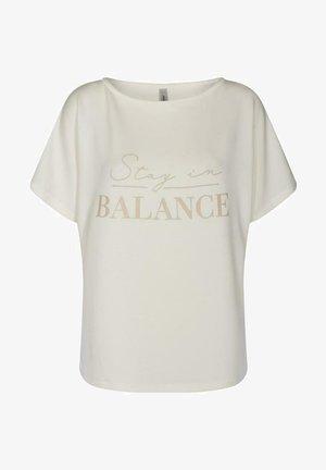 Print T-shirt - cream