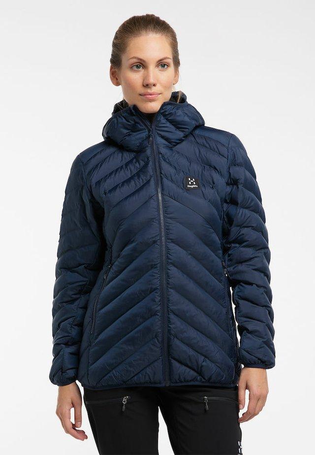STEPPJACKE SÄRNA MIMIC HOOD WOMEN - Winter jacket - tarn blue