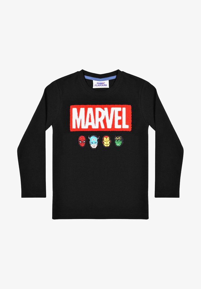 MARVEL BOUCLE LOGO PIQUE TEE - Long sleeved top - black