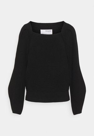 SLFGRY LS SQUARE NECK B - Jumper - black