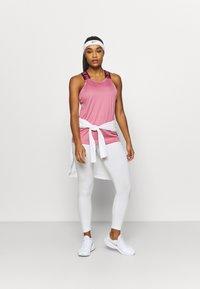Nike Performance - DRY ELASTIKA TANK - Camiseta de deporte - desert berry/dark beetroot/white - 1