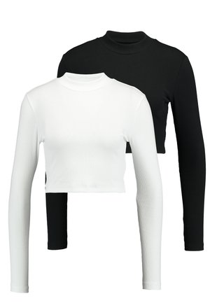 2 PACK - Langærmede T-shirts -  white/black