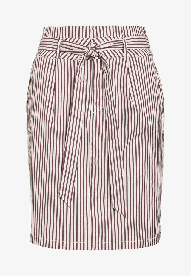 VMEVA PAPERBAG SKIRT  - Minifalda - sable/white