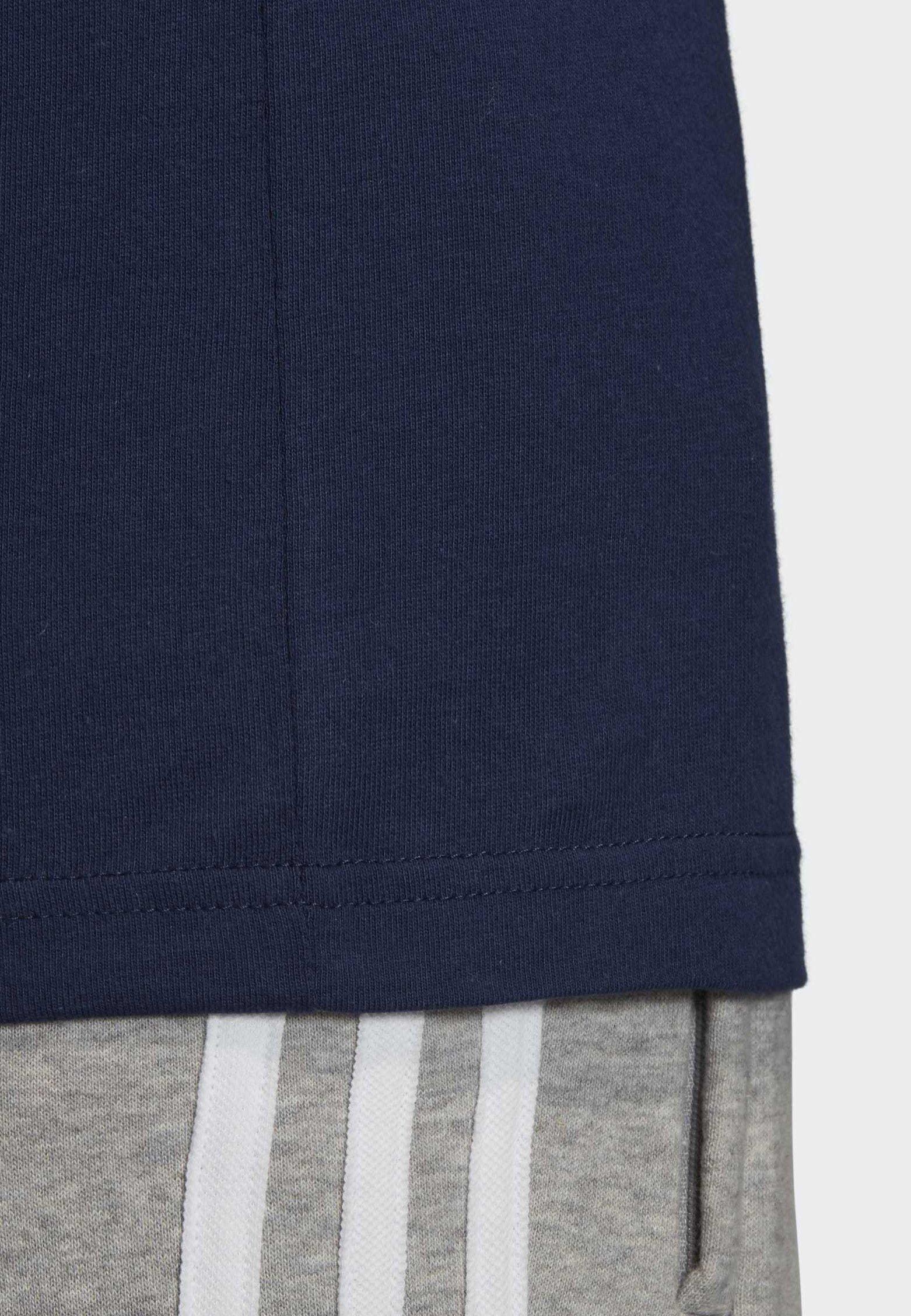 Adidas Originals Outline Trefoil T-shirt - Z Nadrukiem Blue