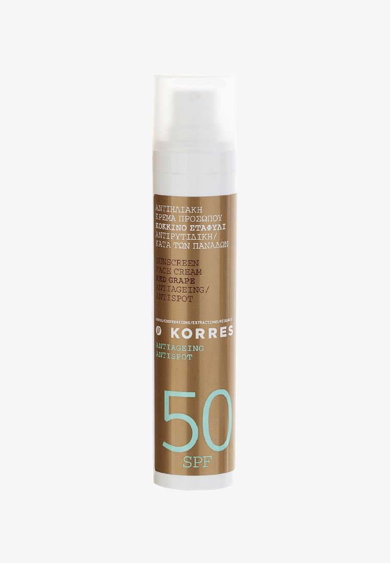 Korres - REDGRAPE FACE SUNSCREEN SPF50 - Sun protection - -