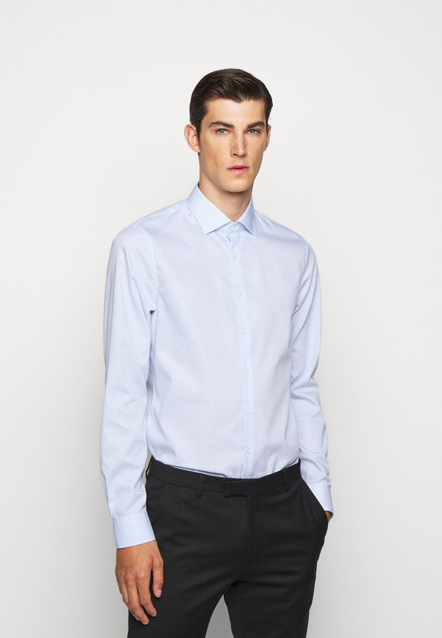 PRINTED EASY CARE SLIM FIT - Koszula biznesowa - light blue