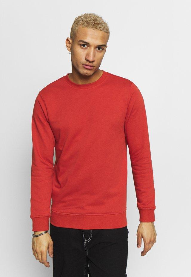 BASIC CREW - Sweatshirt - burnedred