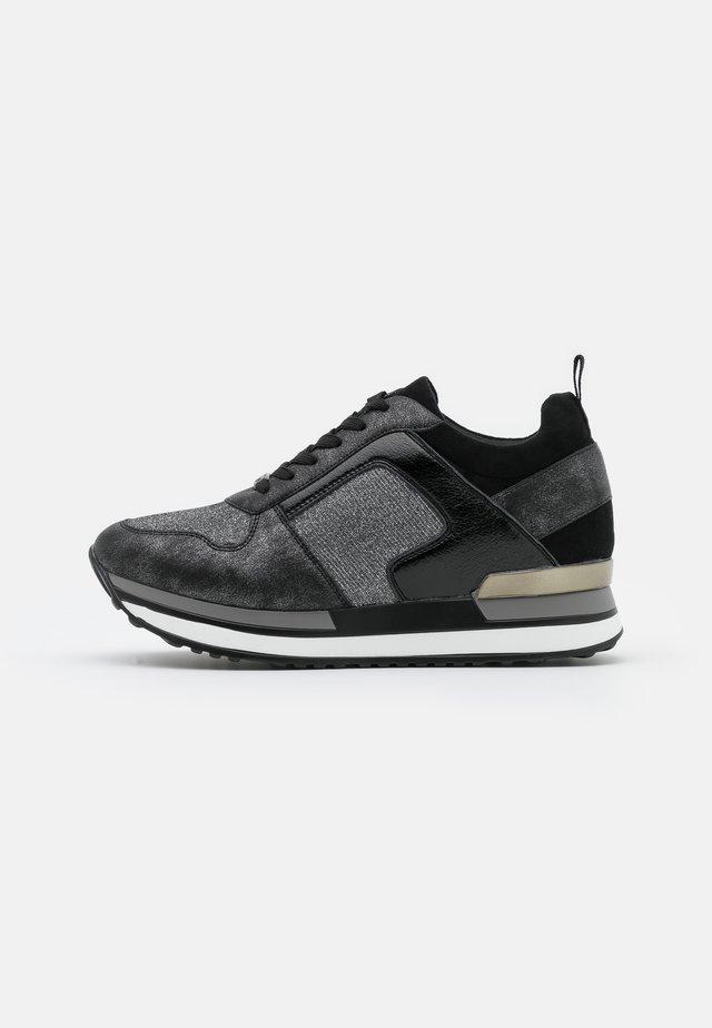 Sneakers laag - dark silver