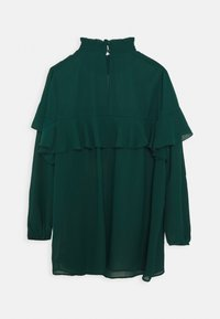 Simply Be - RUFFLE FRONT BLOUSE - Blouse - emerald green - 1