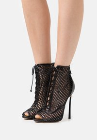 Casadei - JOLLY BLADE WEBSTER - Lace-up ankle boots - minorca/nero - 0