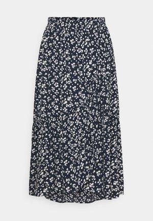 PCNERVIA MIDI SKIRT  - A-line skirt - navy blazer