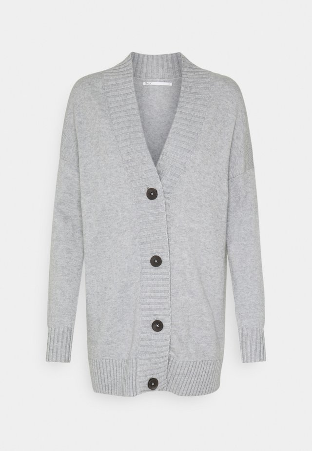 ONLSANDY BUTTON CARDIGAN - Cardigan - light grey melange