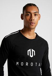 MOROTAI - BONDED LONGSLEEVE - Long sleeved top - black - 3