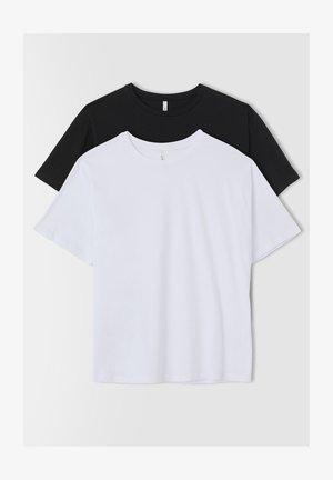 PACK OF 2 - T-shirt basic - black