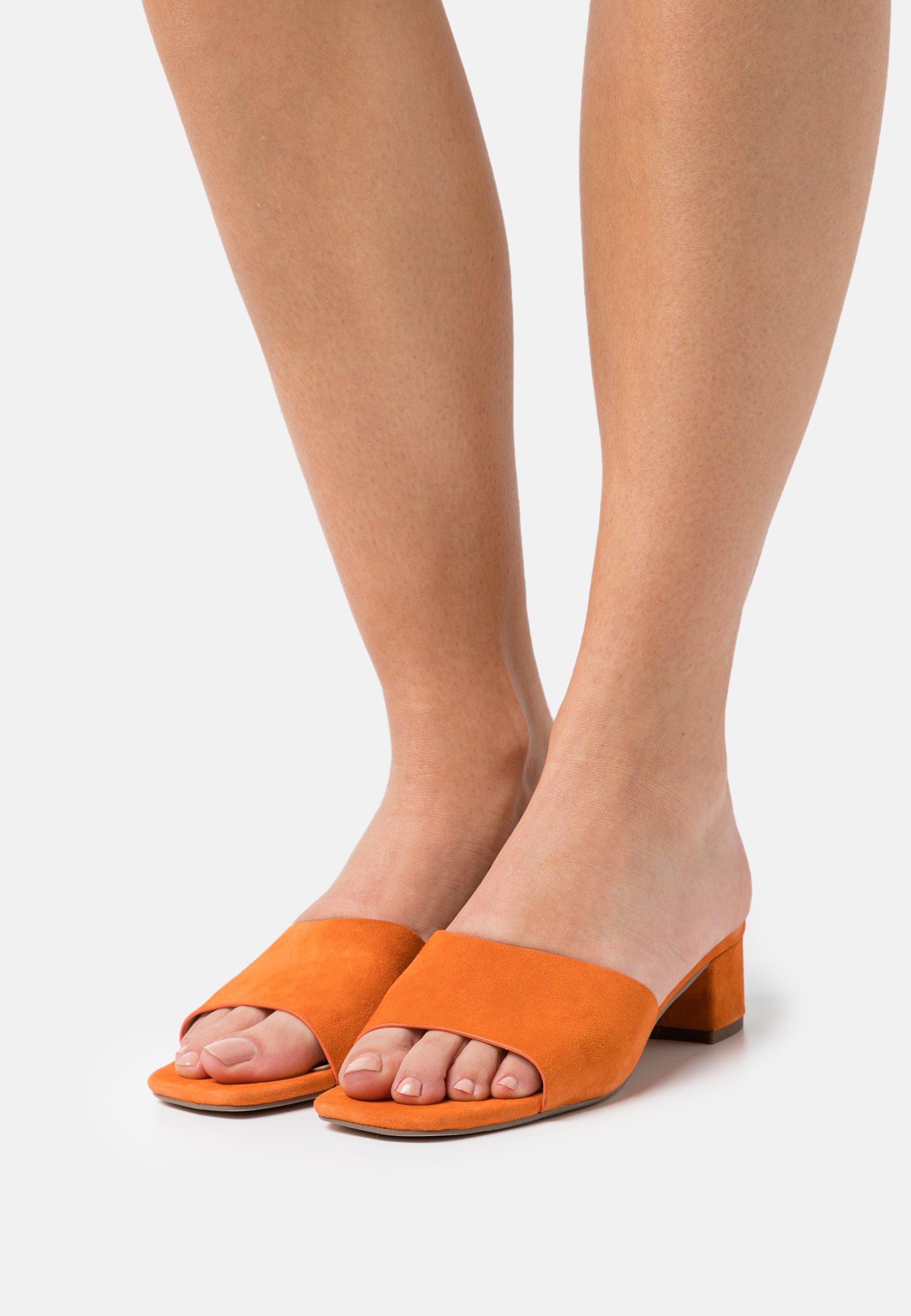 Women Mules - orange
