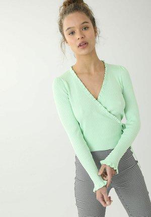 WICKELOPTIK - Cardigan - grün