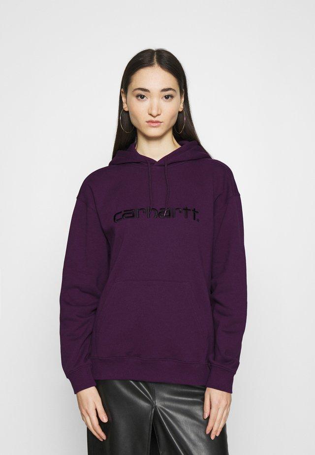 HOODED - Jersey con capucha - boysenberry/black