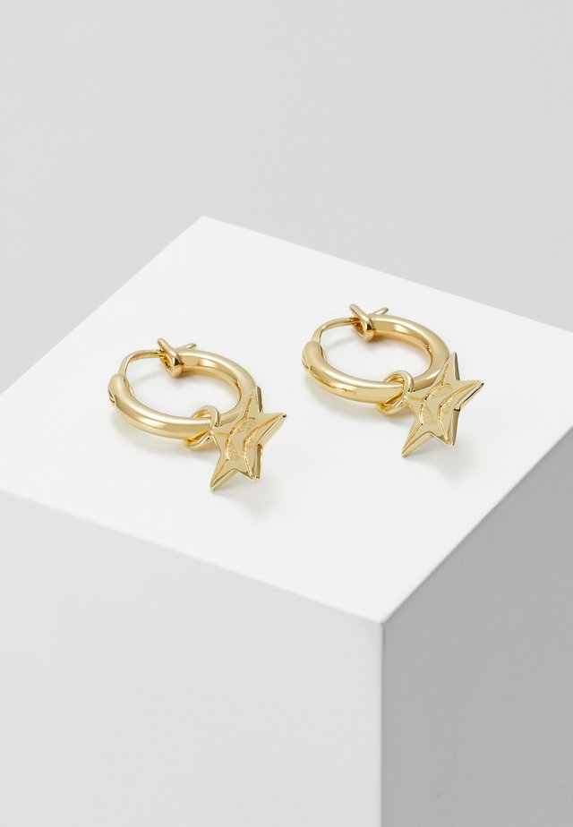 LOGO STAR HOOP EARRINGSIN GOLD - Kolczyki - gold-coloured