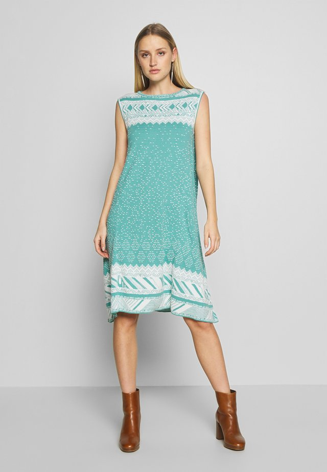 DRESS GEOMETRIC PATTERN - Sukienka letnia - aqua