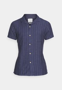 Springfield - CUBAN DOBBY STRIPE - Košile - medium blue - 4