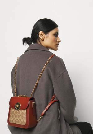 SIGNATURE MADISON BACKPACK - Rucksack - tan rust