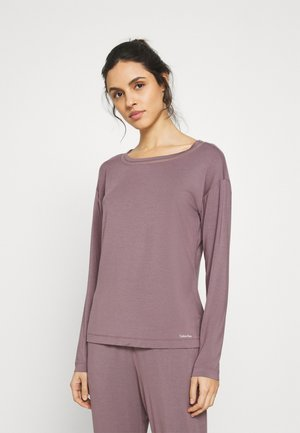 PERFECTLY FIT FLEX WIDE NECK - Pyjama top - plum dust