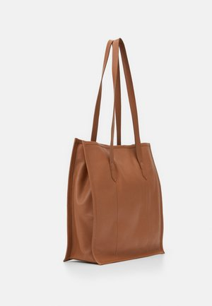 LEATHER - Shopper - cognac