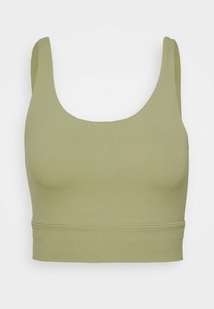 YOGA LUXE CROP TANK - Sports shirt - celadon/olive aura