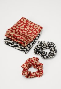 Pieces - SCRUNCHIE 2 PACK - Hair Styling Accessory - black/leopard - 2