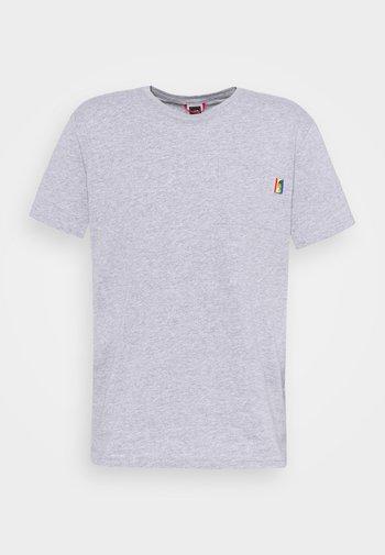 RAINBOW TEE - T-shirts print - light grey heather
