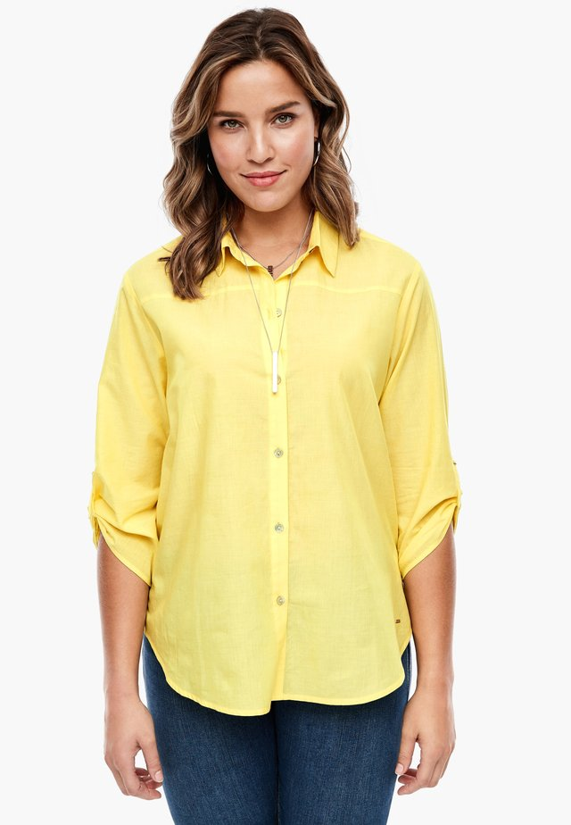 Button-down blouse - yellow melange