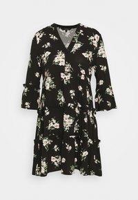 Vero Moda - VMSIMPLY EASY 3/4 WVN G - Denní šaty - black/sandy black - 4