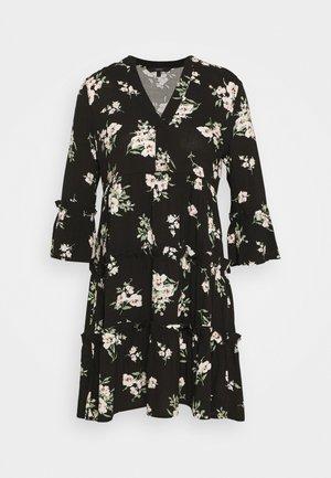 VMSIMPLY EASY 3/4 WVN G - Denní šaty - black/sandy black