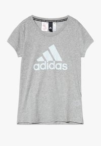 adidas Performance - TEE - Camiseta estampada - mottled grey - 0