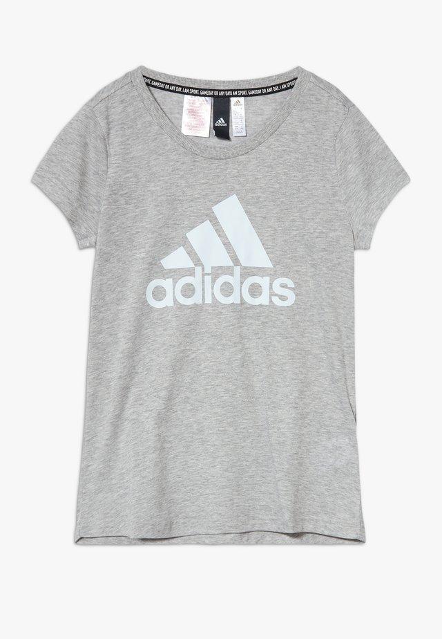 TEE - T-shirt med print - mottled grey
