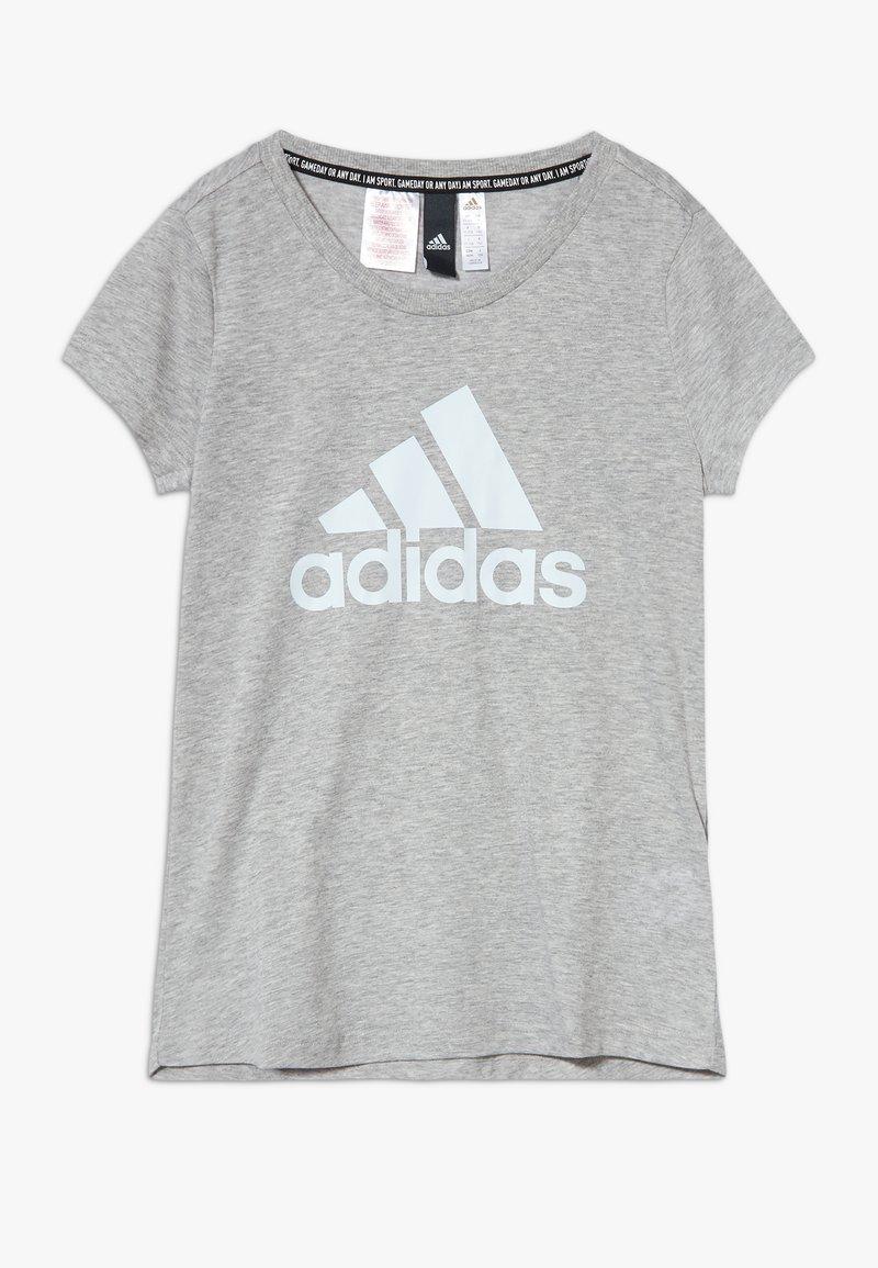 adidas Performance - TEE - Camiseta estampada - mottled grey