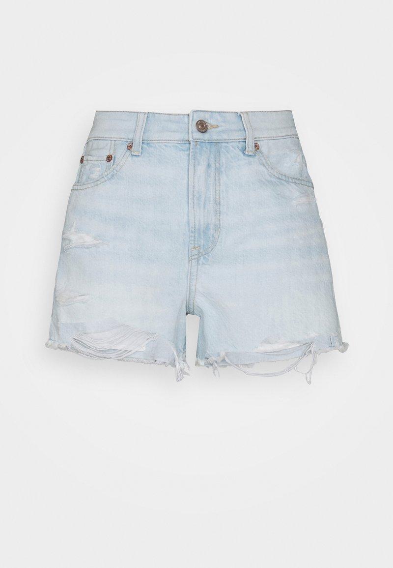 American Eagle - FESTIVAL  - Denim shorts - light super bleach