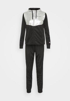 HOODED FULL ZIP SUIT SET - Trainingsanzug - black