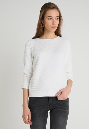 STRUCTURED - Long sleeved top - off white