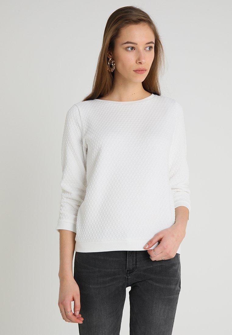 TOM TAILOR DENIM - STRUCTURED - Pitkähihainen paita - off white