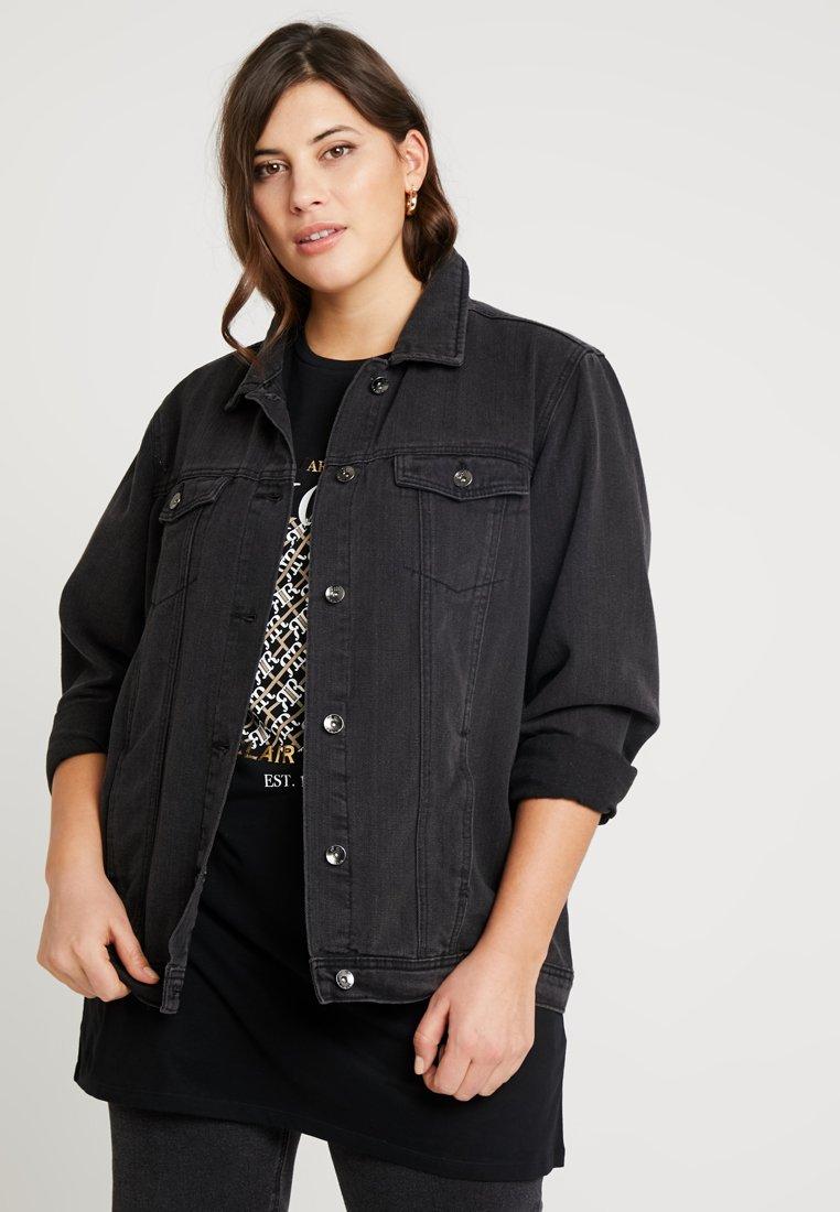 Simply Be - OVERSIZED JACKET - Džínová bunda - black denim