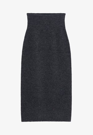 TALDORA - Pencil skirt - gris chiné foncé