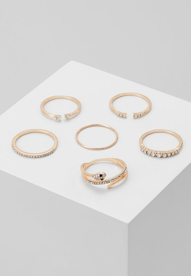 VIAVEN 6 PACK - Ring - gold-coloured